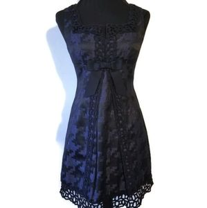 Anna Sui dress lace blue black sz 3